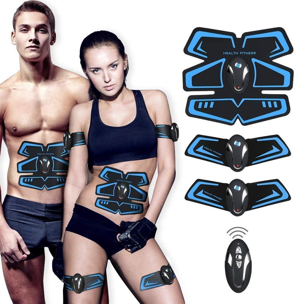 SHENGMI Muscle Toner, Abdominal Toning Belt Abs Trainer Body Fitness Belt Ab Workout Machine for Men Women Arm Leg Trainer