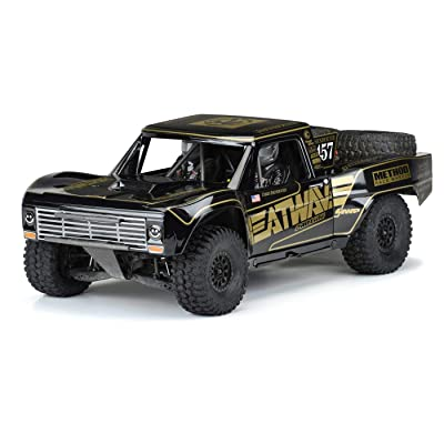 Pro-line Racing Pre-Painted Pre-Cut 1967 Ford F-100, Black: UDR, PRO354718: Toys & Games