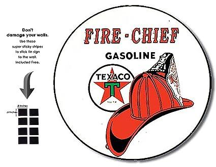 Amazon com: Shop72 - Fire Chief Texaco Tin Signs Retro