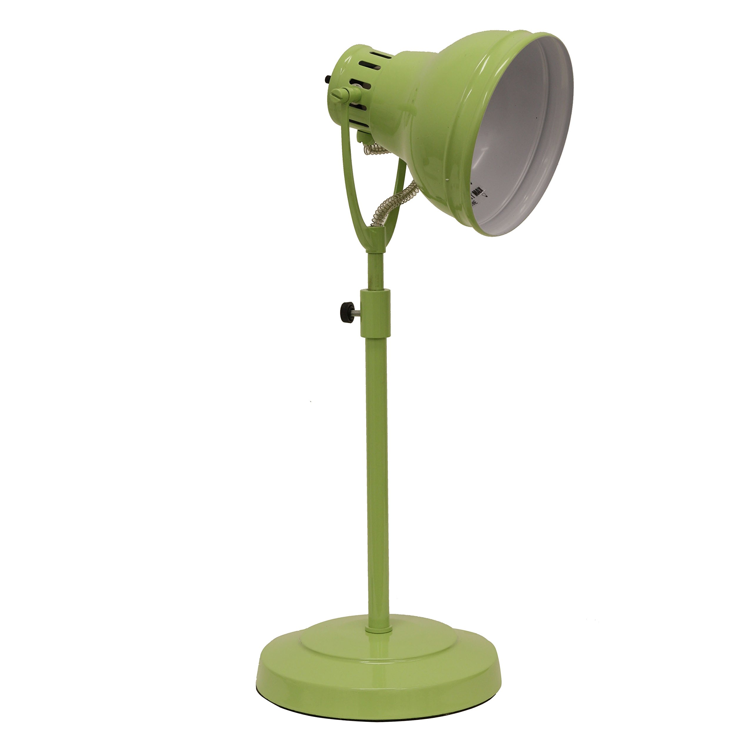 Décor Therapy TL13954 Desk Task Table Lamp with Adjustable Shade, Green
