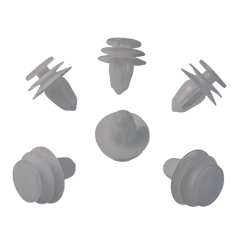 10 X porta rivestimento interno bianco plastica clip di fissaggio | 0155330001 MYBA-S