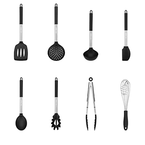 Stainless Steel Kitchen Utensil Set 8 Piece Gadget Tool Cookware Set GIFT IDEA