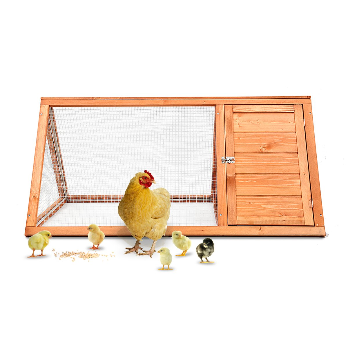 Magshion Wooden Chicken Coop Rabbit Hutch Pet Cage Wood Small Animal Poultry Cage Run (HUTCH005)