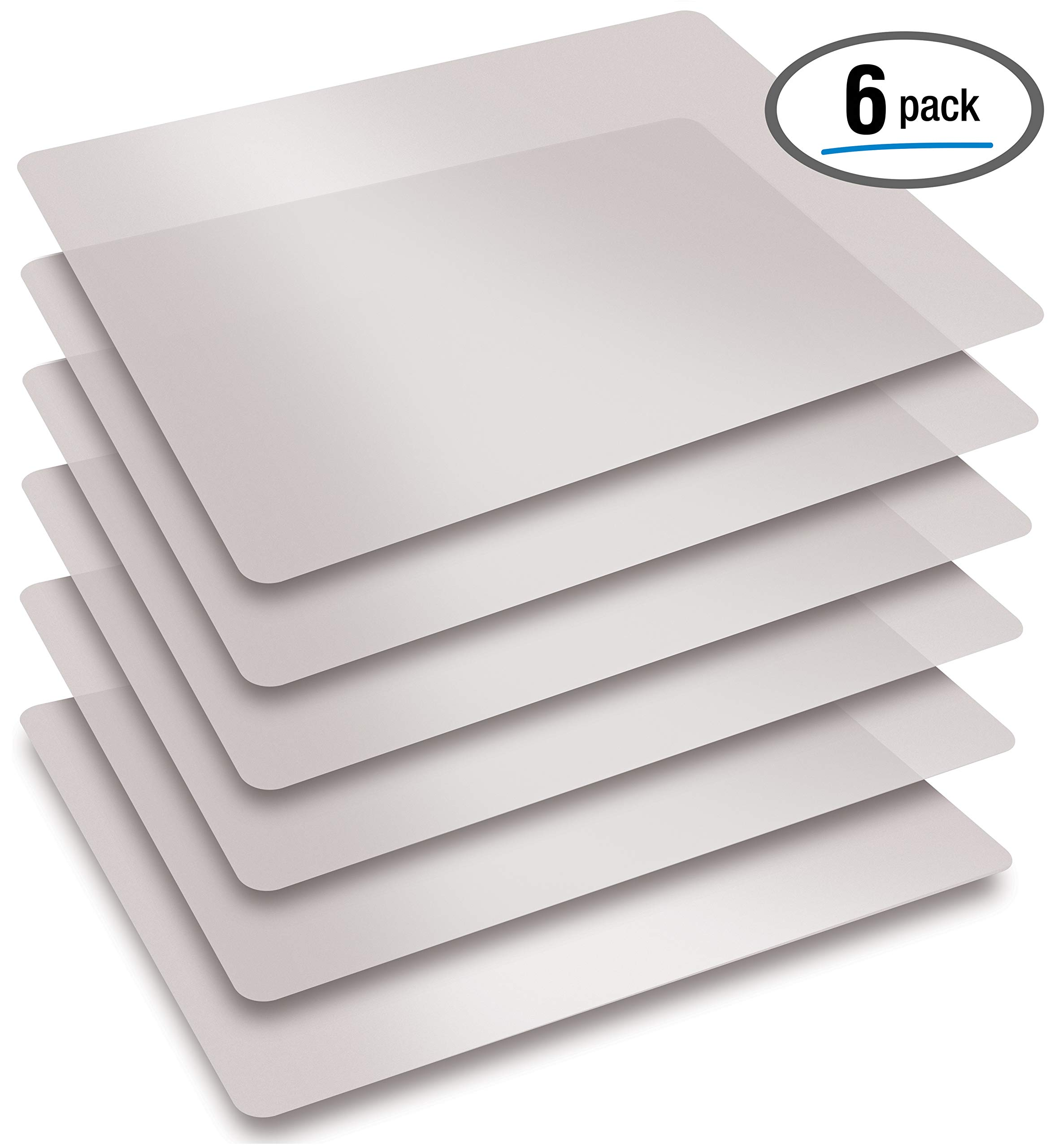 Extra Thick Flexible Frosted Clear Plastic Cutting Mats, Set of 6, by Better Kitchen Products by Better Kitchen Products