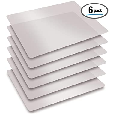 Extra Thick Flexible Frosted Clear Plastic Cutting Mats, Set of 6, by Better Kitchen Products