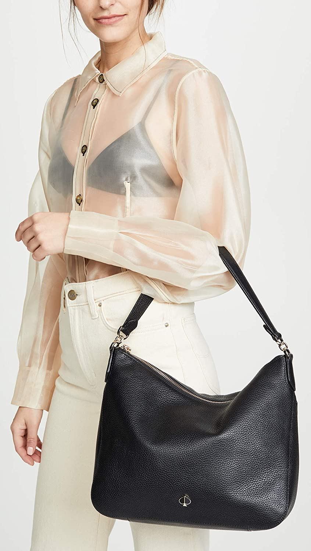 Amazon Com Kate Spade New York Women S Polly Medium Shoulder Bag Black One Size Shoes