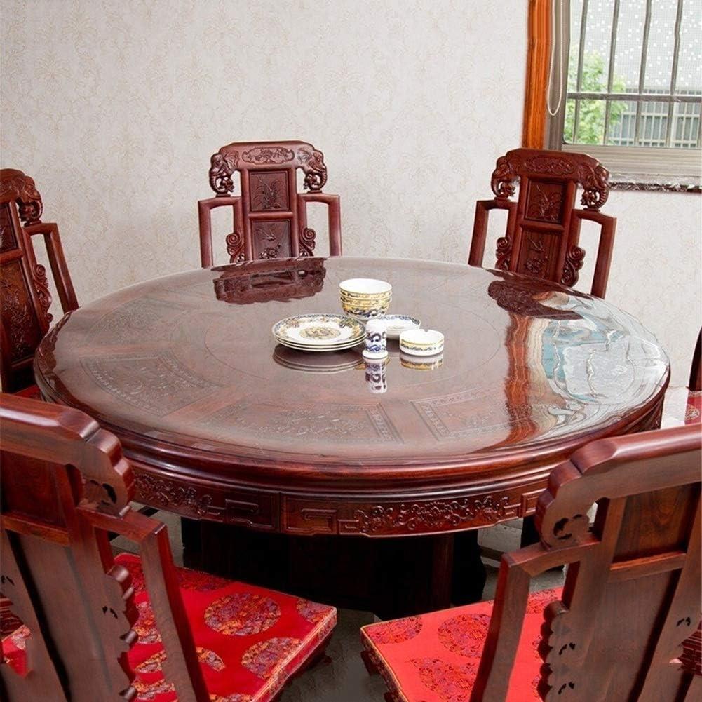 100//110// 120CM Color : 1MM, Size : 100cm N A LINLINZ Tischfolie Tischdecken Transparente Rund Schutzfolie Lebensmittelgeeignet Tischschutz-Folie Wasserdicht PVC Plastik-Tischdecke