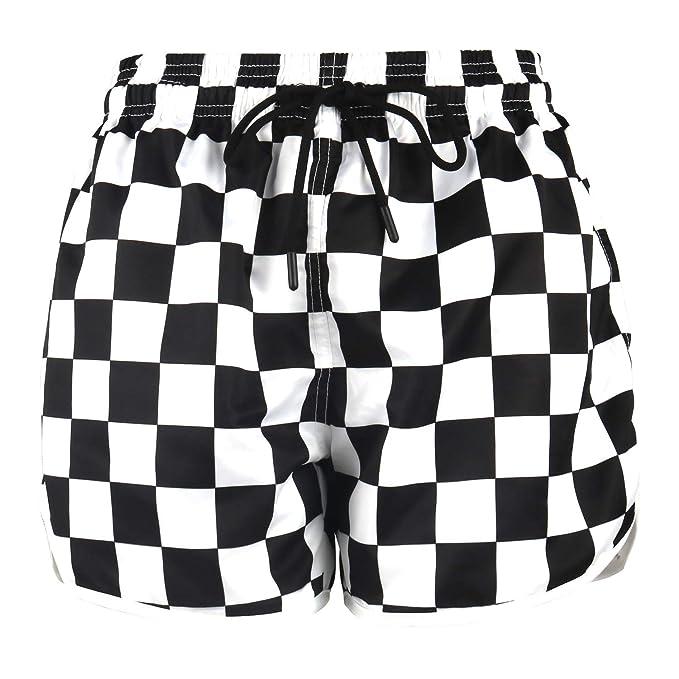 HONG DI HAO Womens Printed Beach Shorts Elastic Waistband Boardshort with DrawstringQuick Dry Swim Trunks