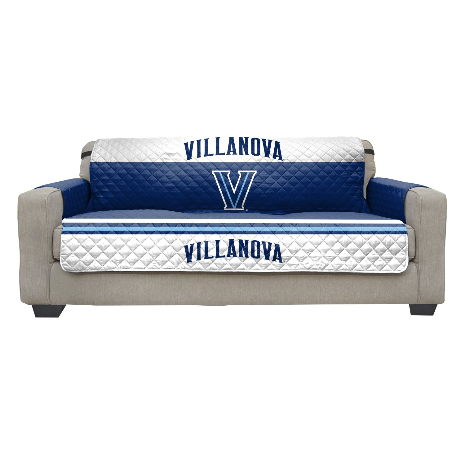Reversible Couch Cover - College Team Sofa Slipcover Set / Furniture Protector - NCAA Officially Licensed (Couch / Sofa, Villanova University Wildcats)