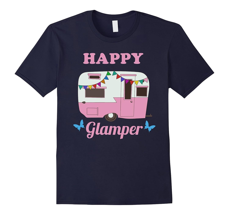 Happy Glamper - Glamping Camping T-Shirt-CD