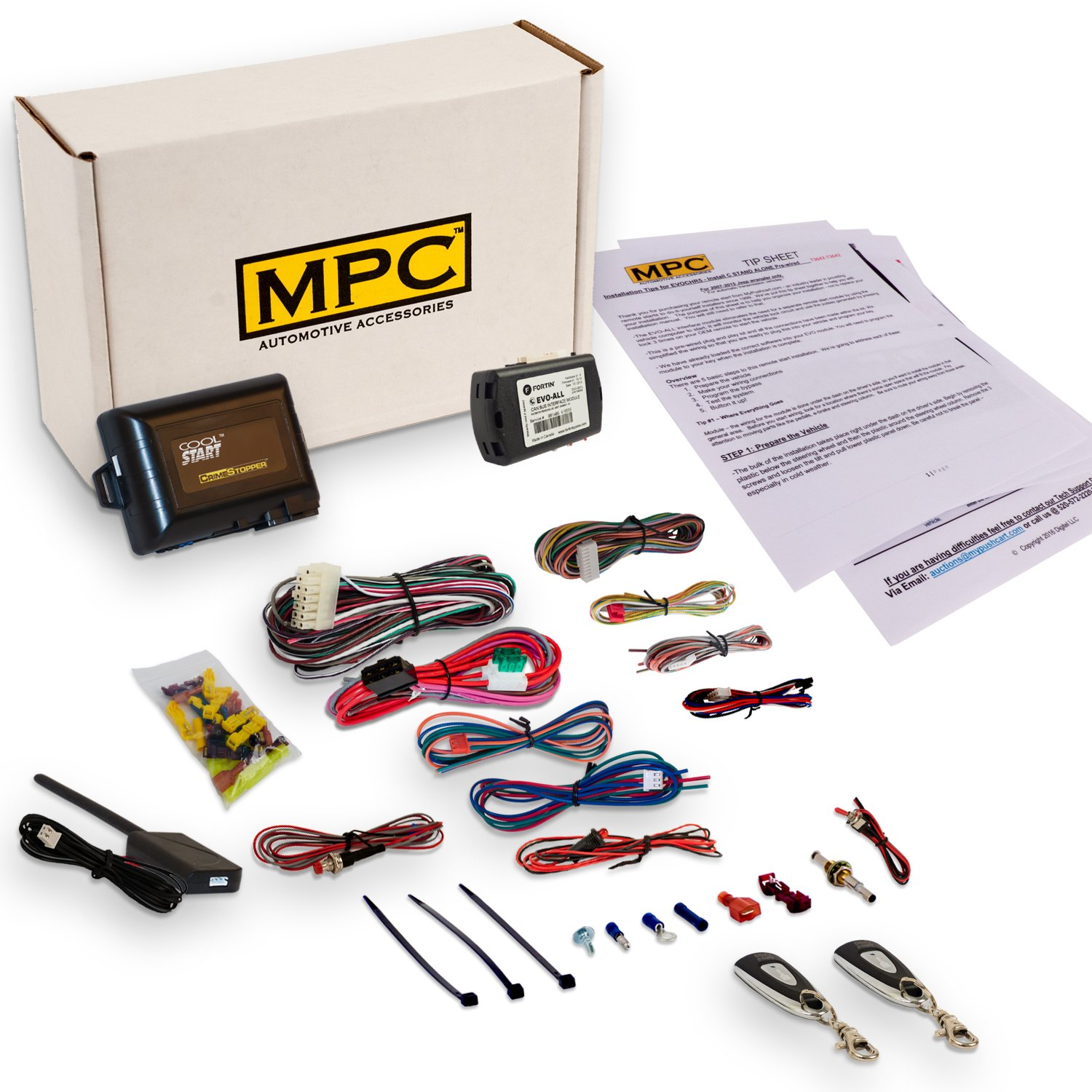EZ Install 1-Button Remote Start Kit for Honda/Acura. Includes Bypass! by MPC