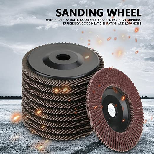 148 Pack Depressed Center Wheel 4 1//2 in Dia 1//4 in Thick 24 Grit Aluminum