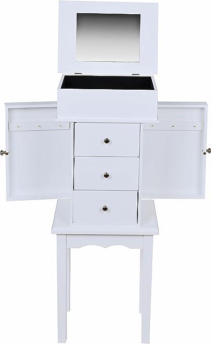 Joyero con espejo mesa armario gabinete con cajones estilo de la ...