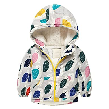 eef6872a1a Girl Boy Baby Winter Cotton Thick Warm Hooded Coat Jacket Long Sleeve  Zipper Cashmere Sweater Outwear