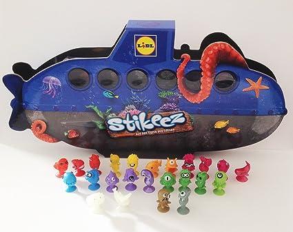Lidl Stikeez álbum de U-en barco de remos tablero de juego y Set completo