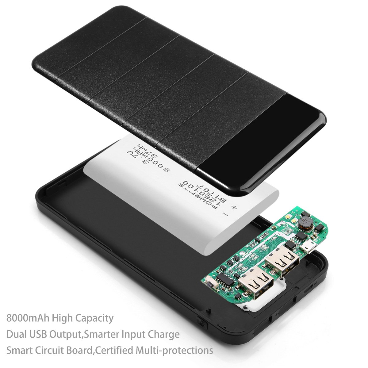 Portable Solar Charger 8000mah 4 Foldable Panels Cell Phone Circuit Boards Suppliers And Dual Usb Ports Power Bank Tablet Supply Led Flashlights Backup Bateria