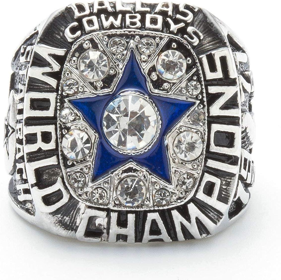 NFL Replica 1971 Dallas Cowboys Super Bowl Vi World Silver Championship Ring Replica