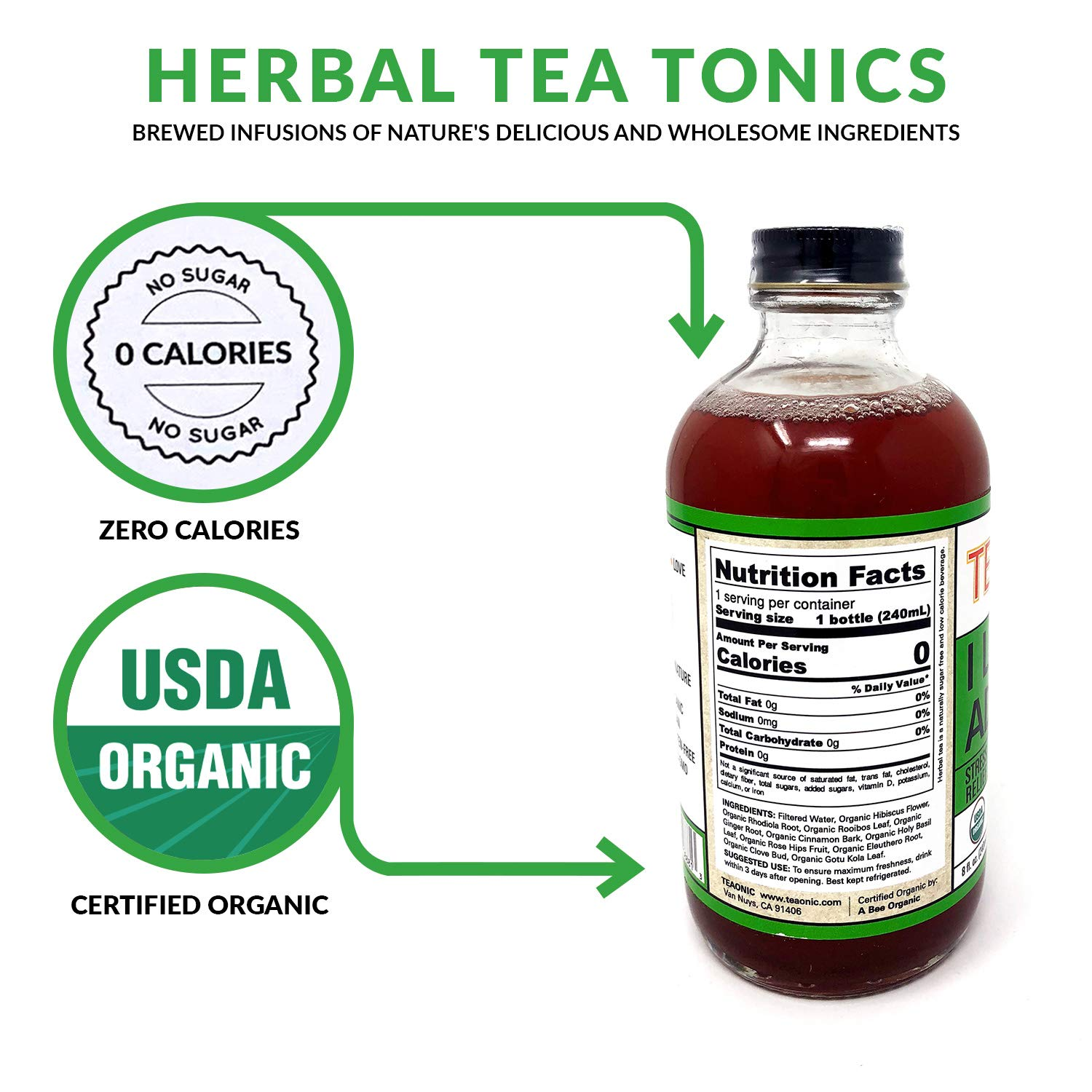 Teaonic Herbal Tea | I Love my Adrenals to Relieve Stress | Cinnamon, Clove & Ginger (12 Pack) by Teaonic (Image #4)