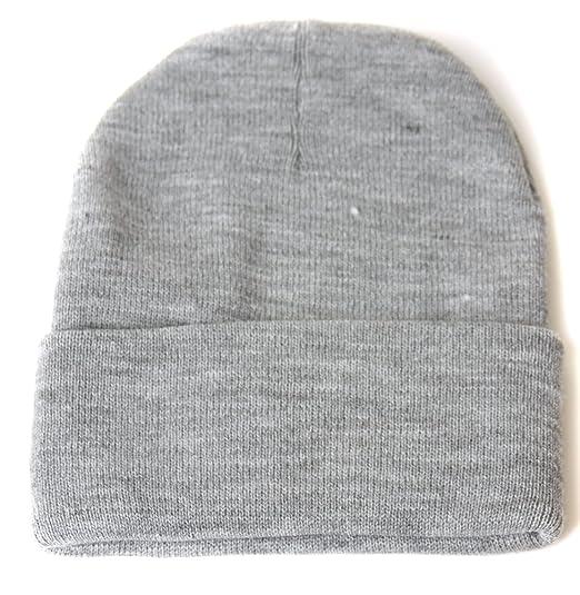 TOP HEADWEAR Blank Long Cuff Beanie - Heather Grey at Amazon Men s ... 42070a620f7