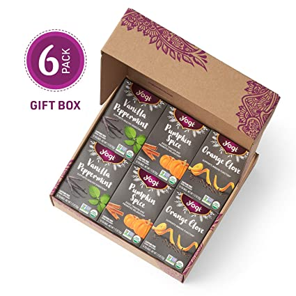 Yogi Tea - Holiday Tea Variety Pack in Gift Box Packaging - New Seasonal Offering - Includes Pumpkin Spice, Orange Clove, and Vanilla Peppermint Teas ...