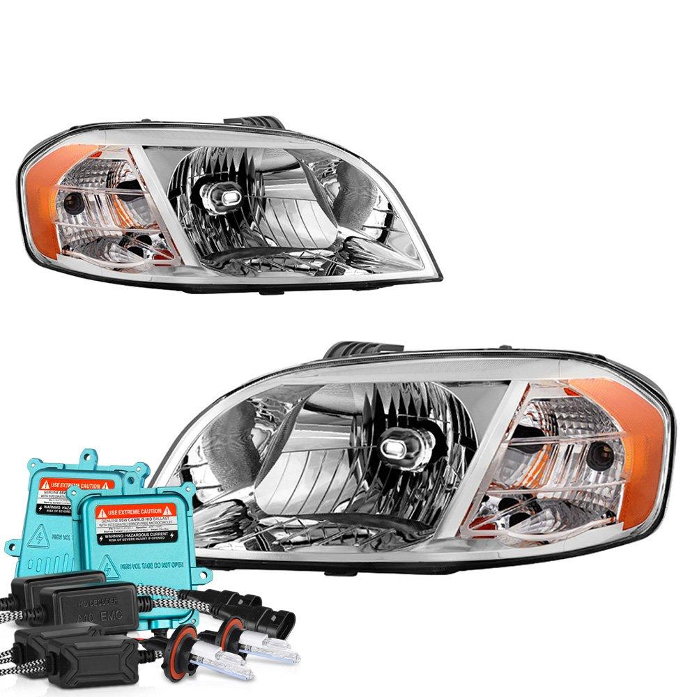 Amazon.com: VIPMOTOZ For 2007-2011 Chevy Aveo Headlights - Matte Black  Housing, Driver and Passenger Side: Automotive