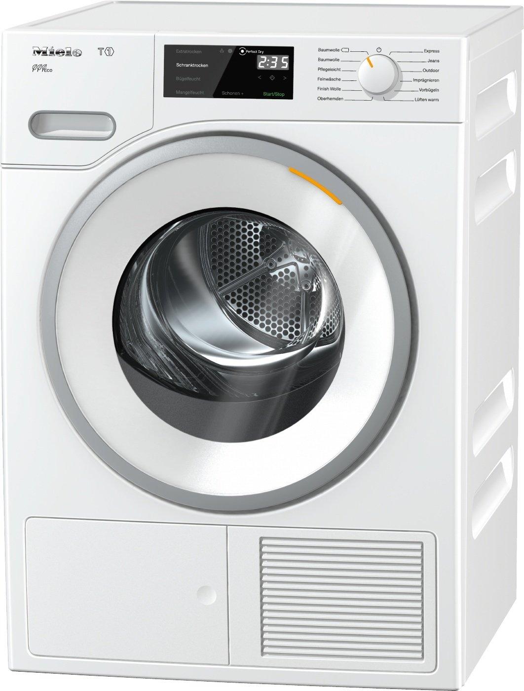 Miele TWF 620 WP Active Plus Wärmepumpentrockner / Energieklasse A+++ (171kWh/Jahr) / 8 kg Schontrommel / Duftflakon für frisch duftende Wäsche / Startvorwahl und Restzeitanzeige / Knitterschutz [Energieklasse A+++] Miele & Cie. KG TWF620 WP Eco