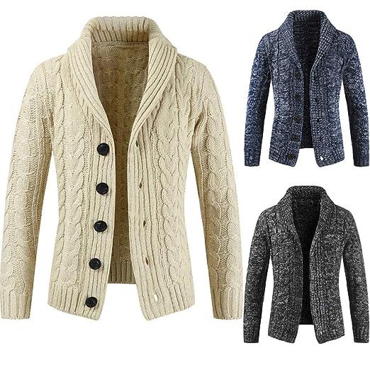 739e121fd Men Coats Winter Sale Pocket Fit Sweater Parka Jackets Casual Long ...