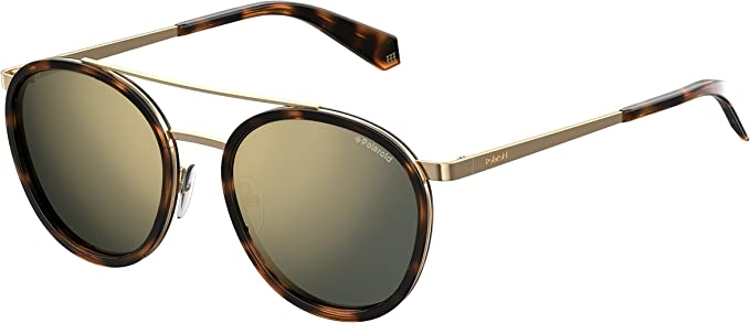 Polaroid PLD 6032/S LM 086 53 Gafas de sol, Marrón (Dark Havana/Brown), Unisex Adulto