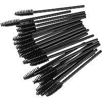 Generic 25 Pcs Disposable Eyelash Black Mascara Wand Applicator Brush-13000049Mg