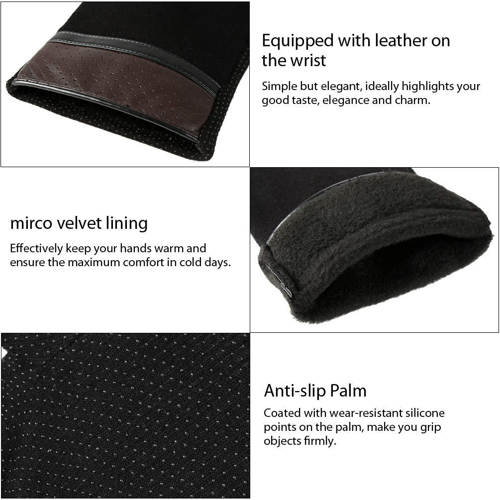 VBIGER Pantalla Táctil Antideslizante de la Silicona Deportes Guantes Calientes al Aire Libre del Otoño e Invierno,Unisex