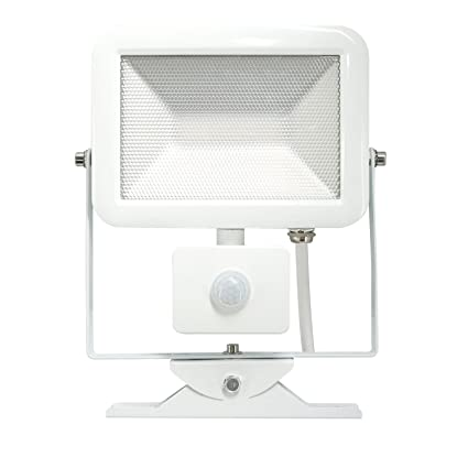 Electraline 63512 Faro Slim IP44 Foco Exterior LED con Sensor de Movimiento, 20W, Color