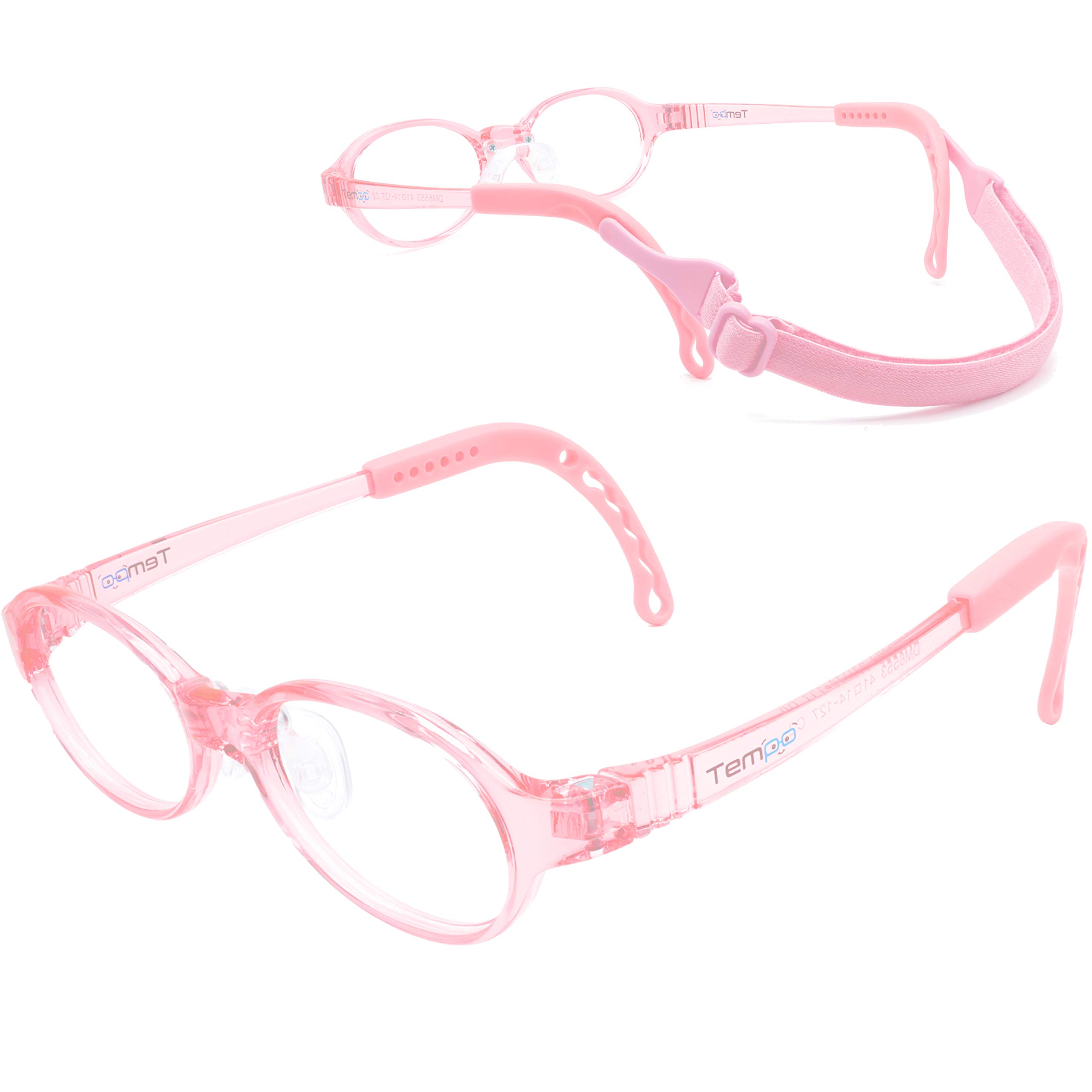 Tempo Perfect Fit: 200114 Adjustable and Repairable Kids Glasses Age 2-3Yr | Pink by Eye Attire