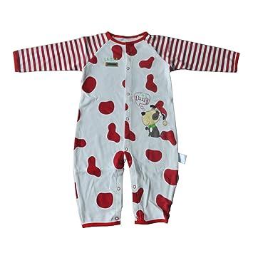 gqmart nueva llegada bebé ropa perro rojo/blanco punto Bebé niña Pelele algodón manga larga Bebé Mono, recién nacido, 7 - 9 m niños niñas: Amazon.es: ...
