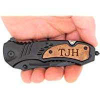 TAC-FORCE TF606WS Engraved Tactical Assisted Opening Pocket Knife, Valentines Day Gifts For Men, Fathers Day Gifts, Perfect Personalized for Him, Groomsmen Gifts & Anniversary Gifts for Men, Black