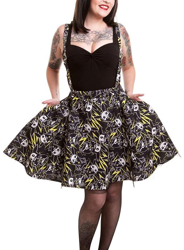 Cupcake Cult Thunder Suspender Skirt Ladies Black: Amazon.co.uk: Clothing