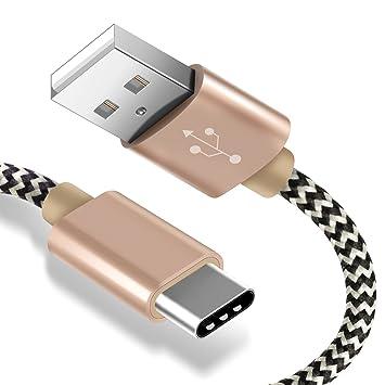 Aosta - Cable USB C 3.0 de 2 m, de aluminio, Cargador USB C ...