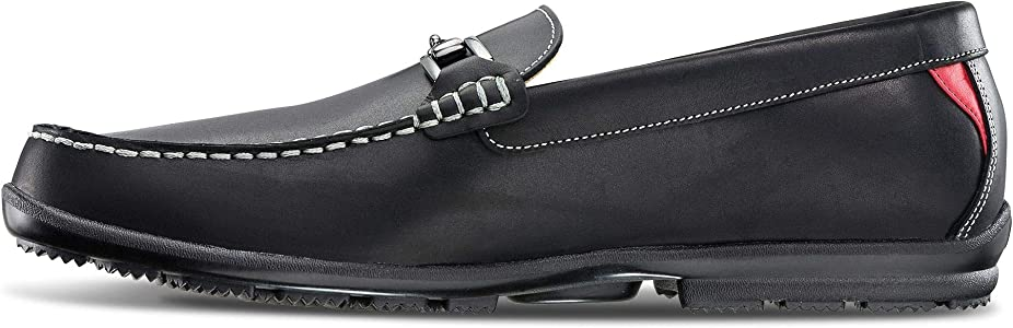Club Casuals Buckle Loafers, Waxy Black