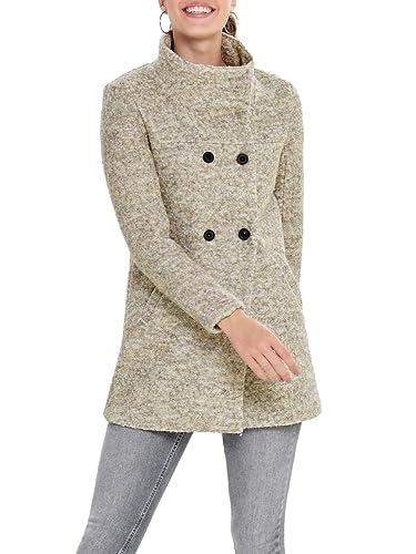 Abrigo Mujer Wool Cc es Ropa Y Amazon Onlsophia Boucle Coat Para Accesorios  Otw Only IfU8Yqxwx 6bab0fb29bd0