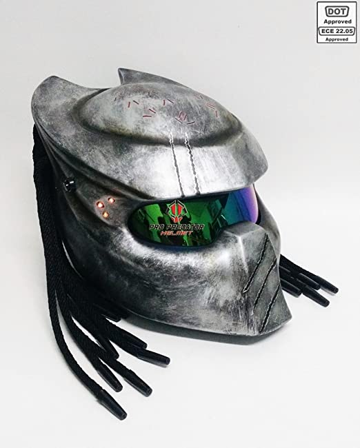 Amazon.com: Pro Predator Helmet Custom Predator Motorcycle DOT ECE Helmets SY04 Model (M): Automotive