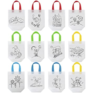 Wolintek Lote 12 Bolsas para Colorear,DIY Bolsas Infantiles ...