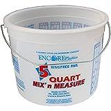 Encore Plastics 5166 Mix 'N Measure Ringfree Plastic Pail with Wire Handle, 5-Quart