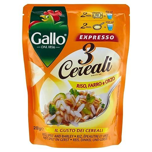 5 opinioni per Riso Gallo 3 Cereali Riso, Farro e Orzo Expresso- 250 gr- [confezione da 6]