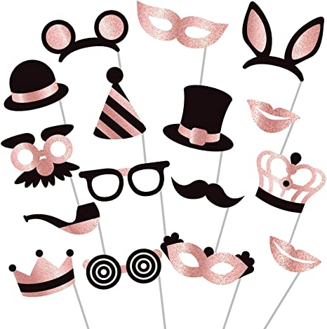 Fun Photo Props Photo Booth Props Wedding Props Birthday Props Lips Props Hat Props Party Decorations Photo Booth Supplies Set of 9