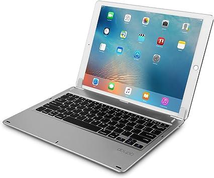 doupi Inalámbrico Teclado para iPad Pro 12,9 Pulgadas (2015/2017) Smart Bluetooth Keyboard DE Alemán con el Bolsillo de protección Que se Puede Abrir ...