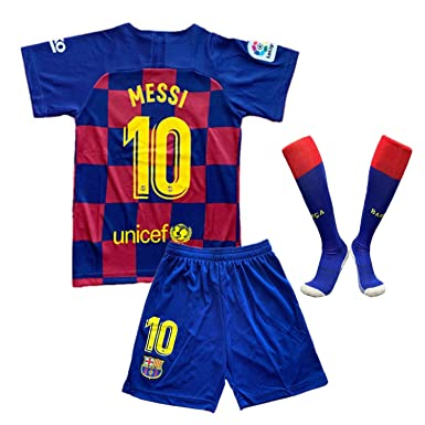 new product cb028 a5907 19-20 Barcelona 10 Messi and Juventus 7C Ronaldo Home and Away Jersey Socks  for The Kid New Season