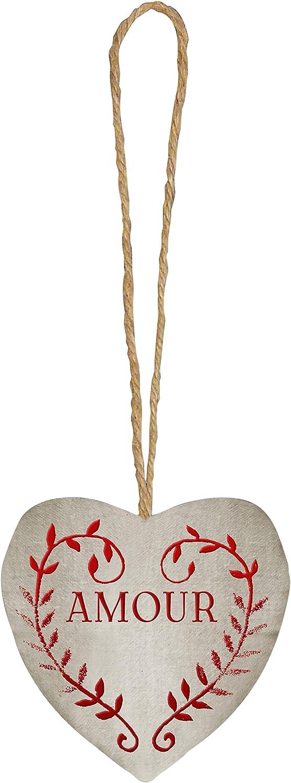 couleur montagne coeur 9.5x9.5 lin amour lin//rouge