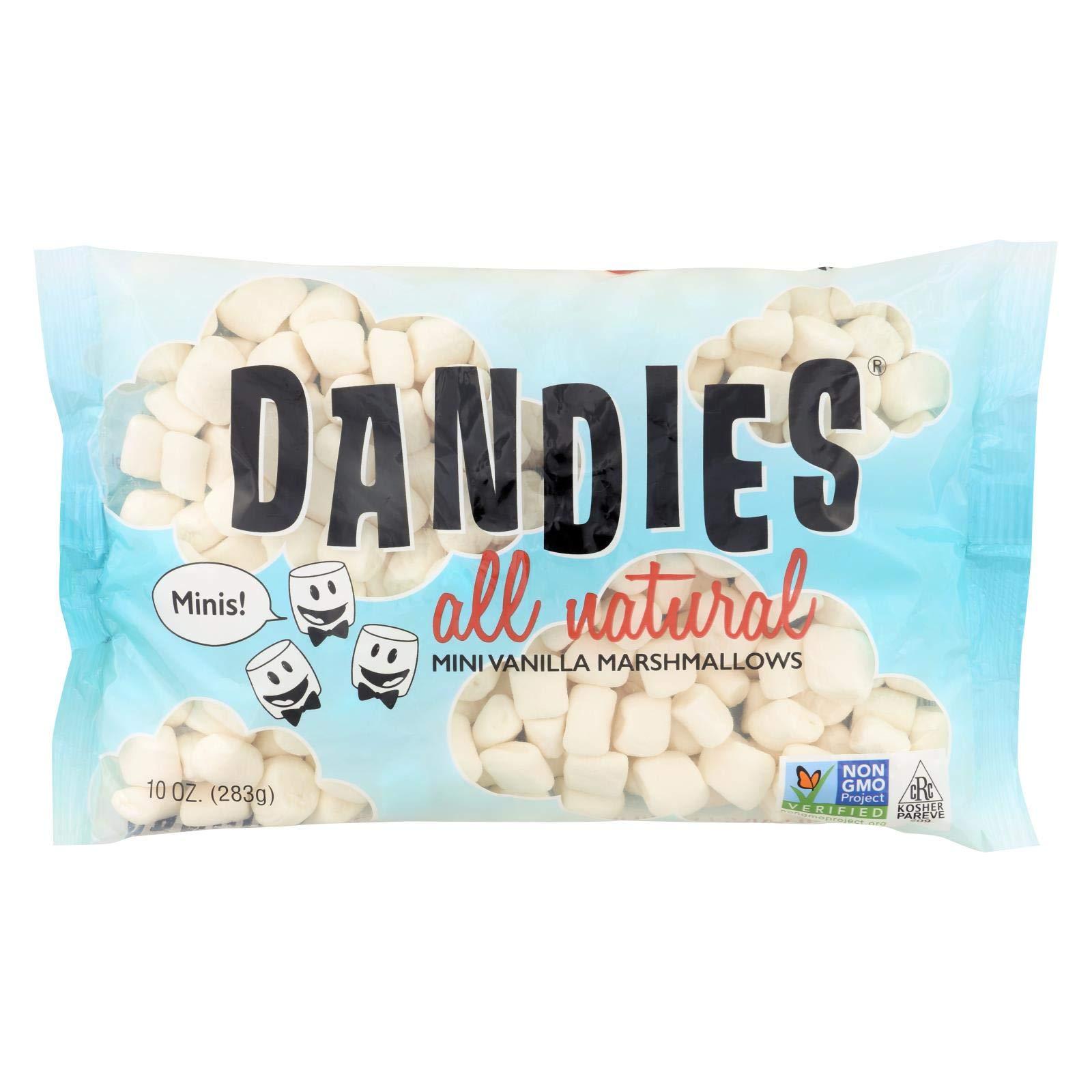 Dandies Air Puffed Mini Marshmallows - Classic Vanilla - Case of 12 - 10 oz. by Dandies