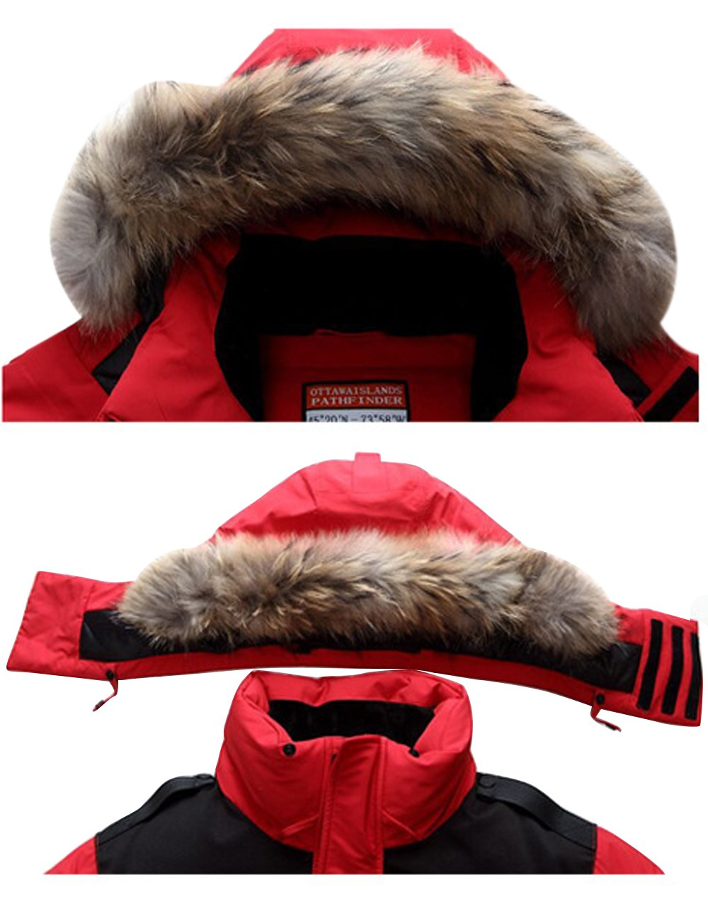 CUKKE Men's Faux Fur Hooded Down Jacket Parka Windproof Coats S-3xl:  Amazon.ca: Clothing & Accessories