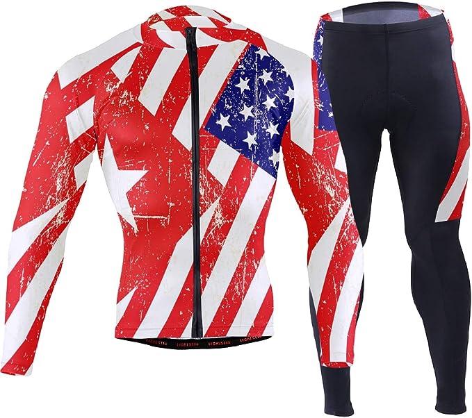 USA Firefighter Novelty Cycling Jersey Long Sleeve