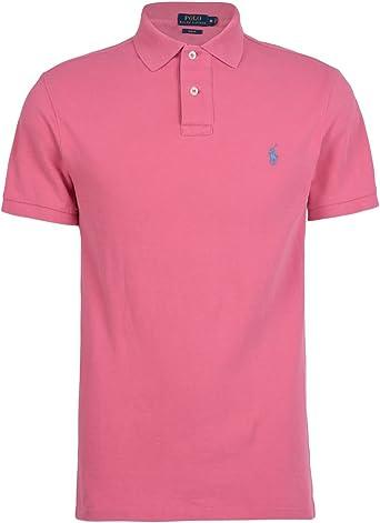 Polo Ralph Lauren Short Sleeve-Knit, camiseta polo hombre Custom Slim Fit rosa S: Amazon.es: Ropa y accesorios
